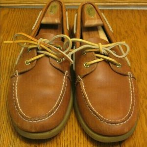 Mens SPERRY TOPSIDER brown leather DECK/BOAT SHOES